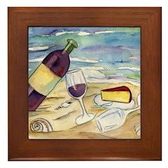 Wine Beach Party Framed Tile