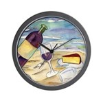 Wine Beach Party Wall Clock