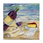 Wine Beach Party Tile Coaster