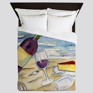 Wine Beach Party Queen Duvet