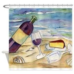 Wine Beach Party Shower Curtain
