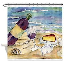 Wine Beach Party Shower Curtain