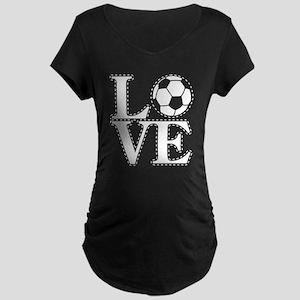 Love Soccer! Maternity Dark T-Shirt
