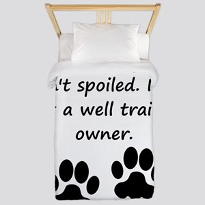 Well Trained Cocker Spaniel Owner Twin Duvet