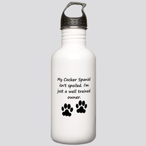 Well Trained Cocker Spaniel Owner Water Bottle
