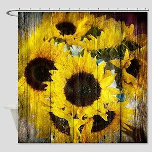 country sunflower western fashion Shower Curtain