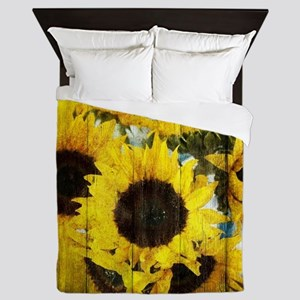 country sunflower western fashion Queen Duvet