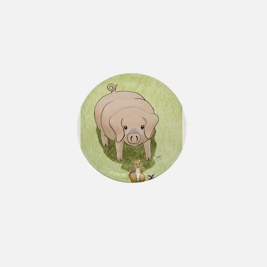 Glinda's Pig Woodhill Whiskers Mini Button