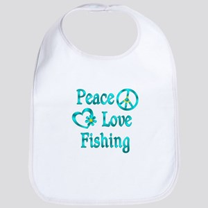 Peace Love Fishing Bib