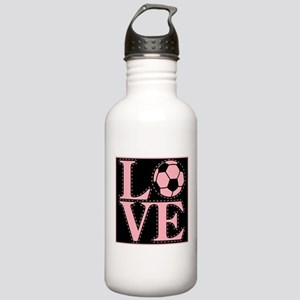 Love Soccer Pink Stainless Water Bottle 1.0L