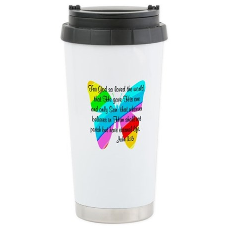 JOHN 3:16 Stainless Steel Travel Mug