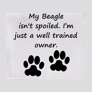 Well Trained Beagle Owner Throw Blanket