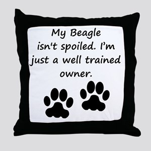 Well Trained Beagle Owner Throw Pillow