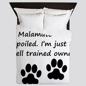 Well Trained Alaskan Malamute Owner Queen Duvet