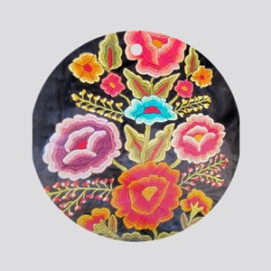 Mexican Embroidery Design Ornament (Round)