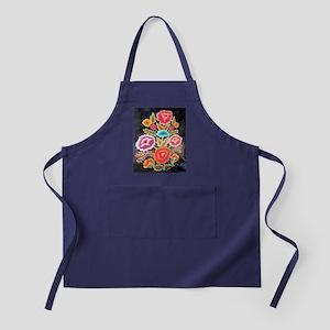 Mexican Embroidery Design Apron (dark)