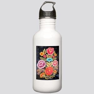 Mexican Embroidery Design Stainless Water Bottle 1