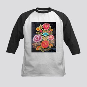 Mexican Embroidery Design Kids Baseball Jersey