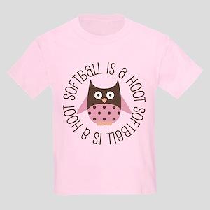 Softball Is A Hoot Kids Light T-Shirt