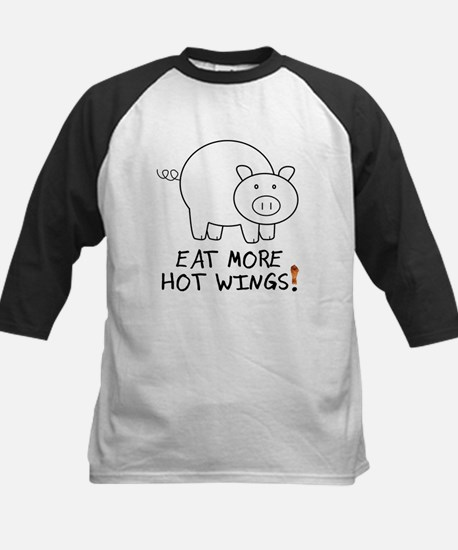 Eat More Hot Wings Baseball Jersey