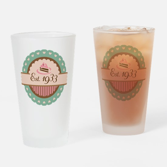 1933 Birth Year Birthday Drinking Glass