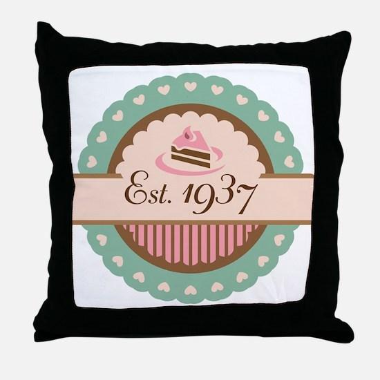 1937 Birth Year Birthday Throw Pillow