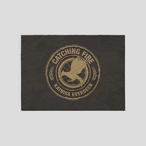 Catching Fire Katniss Everdeen 5'x7'Area Rug