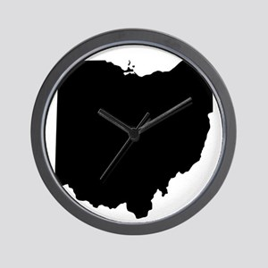 Black Ohio Wall Clock