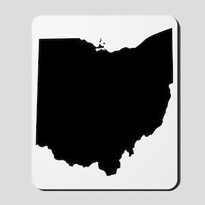Black Ohio Mousepad