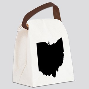 Black Ohio Canvas Lunch Bag