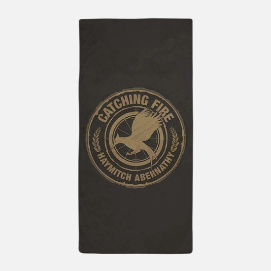 Catching Fire Haymitch Abernathy Beach Towel