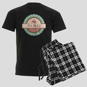 1943 Birth Year Birthday Men's Dark Pajamas