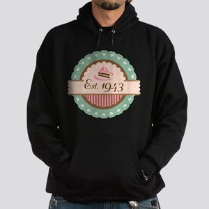 1943 Birth Year Birthday Hoodie (dark)