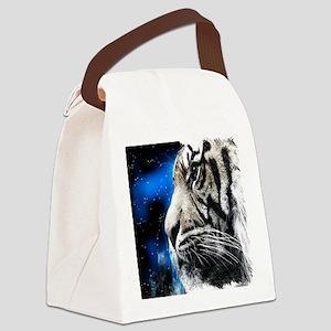 white tiger stars fashion Canvas Lunch Bag