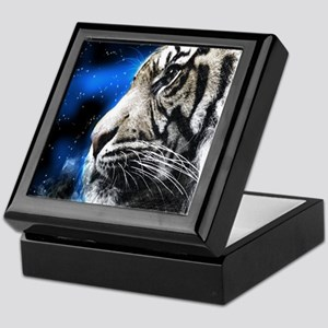 white tiger stars fashion Keepsake Box