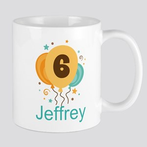 Personalized 6th Birthday Balloons Mugs