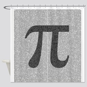 Pi to 14,818 digits Shower Curtain