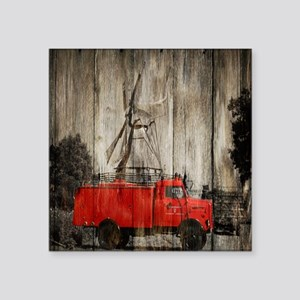 """farm truck windmill Square Sticker 3"""" x 3"""""""
