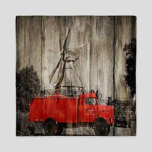 farm truck windmill Queen Duvet