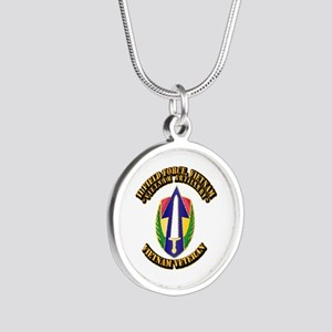 Army - II Field Force, Vietnam Silver Round Neckla