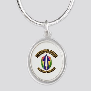 Army - II Field Force, Vietnam Silver Oval Necklac