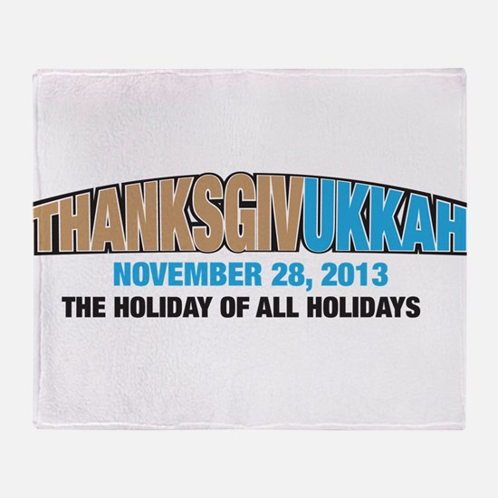 Thanksgivukkah Throw Blanket