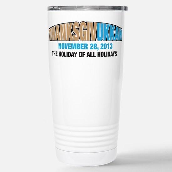 Thanksgivukkah Stainless Steel Travel Mug