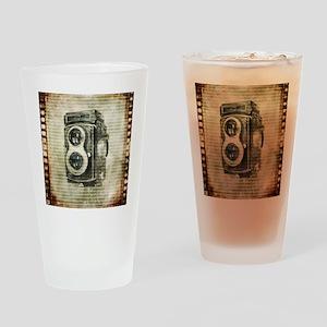 retro camera Drinking Glass