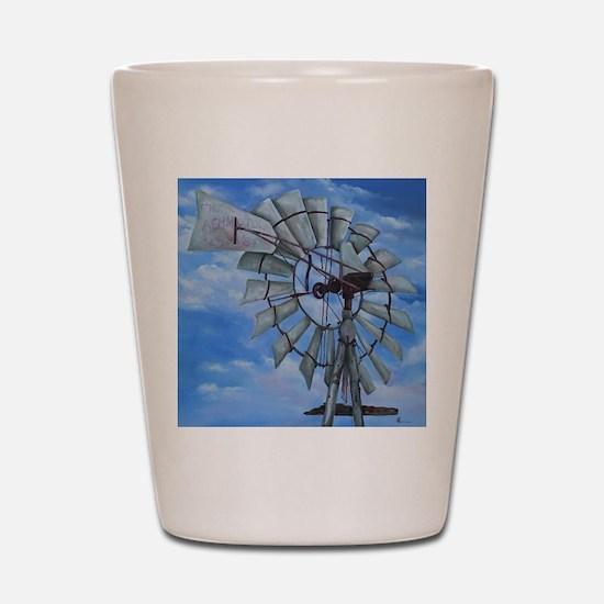 Aermotor Windmill Shot Glass