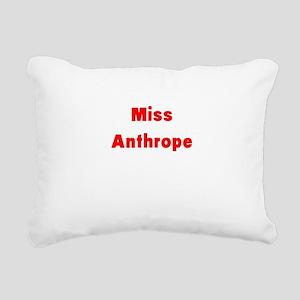Miss Anthrope Rectangular Canvas Pillow