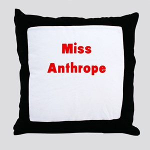 Miss Anthrope Throw Pillow