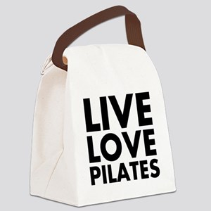 Live Love Pilates Canvas Lunch Bag
