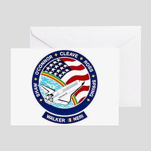 STS 61B Atlantis Greeting Cards (Pk of 10)
