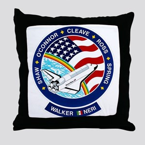 STS 61B Atlantis Throw Pillow